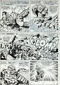 Original Comic Art:Panel Pages, Jack Kirby and Joe Sinnott Fantastic Four #63 Page 12Original Art (Marvel, 1967)....