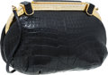 "Luxury Accessories:Bags, Judith Leiber Black Crocodile Evening Bag. ExcellentCondition. 8.5"" Width x 5"" Height x 3"" Depth. CITEScomplia..."
