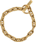 "Luxury Accessories:Accessories, Hermes 18K Yellow Gold Braided Chaine d'Ancre PM Bracelet.Excellent Condition. 8"" Length x .25"" Width. ..."