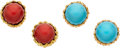 Estate Jewelry:Lots, Coral, Turquoise, Gold Earrings, Tiffany & Co.. ...