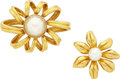 Estate Jewelry:Brooches - Pins, Cultured Pearl, Gold Brooches, Tiffany & Co.. ...