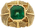 Estate Jewelry:Rings, Emerald, Gold Ring. ...