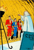 "Original Comic Art:Illustrations, C. C. Beck ""Marvel Family"" Illustration Original Art (1986)...."