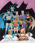 Original Comic Art:Covers, Sheldon Moldoff Batman Annual #2 Back Cover RecreationOriginal Art (undated)....