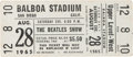 Music Memorabilia:Tickets, Beatles Unused San Diego Concert Ticket (1965). ...