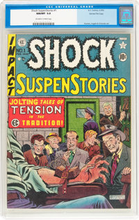 Shock SuspenStories #1 Gaines File pedigree 8/11 (EC, 1952) CGC NM/MT 9.8 Off-white to white pages
