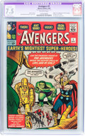 Silver Age (1956-1969):Superhero, The Avengers #1 (Marvel, 1963) CGC Apparent VF- 7.5 Slight (B-1)Off-white pages....