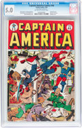 Golden Age (1938-1955):Superhero, Captain America Comics #46 (Timely, 1945) CGC VG/FN 5.0 Off-white to white pages....