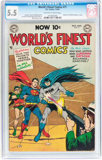 World's Finest Comics #71 (DC, 1954) CGC FN- 5.5 Off-white to white pages