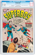 Silver Age (1956-1969):Superhero, Superboy #68 (DC, 1958) CGC VF- 7.5 Off-white to white pages....