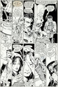 Original Comic Art:Panel Pages, Arthur Adams and Whilce Portacio Longshot #6 Page 22Original Art (Marvel, 1986)....