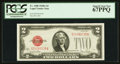 Small Size:Legal Tender Notes, Fr. 1508 $2 1928G Legal Tender Note. PCGS Superb Gem New 67PPQ.. ...