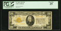 Small Size:Gold Certificates, Fr. 2402 $20 1928 Gold Certificate. PCGS Very Fine 25.. ...