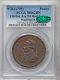 Colonials, Undated PENNY Washington Liberty & Security Penny MS62 Brown PCGS. CAC. Baker-30, W-11050, R.2....