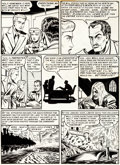 "Original Comic Art:Panel Pages, Al Feldstein Crime Patrol #16 ""Spectre In The Castle"" Page 3Original Art (EC, 1950)...."