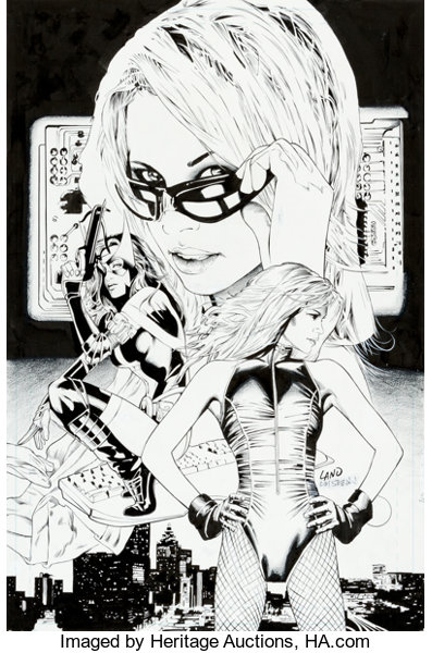 Greg Land And Jay Leisten Birds Of Prey 65 Cover Original Art Dc Lot 93866 Heritage Auctions