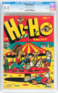 Golden Age (1938-1955):Funny Animal, Hi-Ho Comics #1 Carson City pedigree (Four Star, 1946) CGC VF 8.0Off-white to white pages....