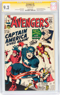 Silver Age (1956-1969):Superhero, The Avengers #4 Boston pedigree - Signature Series (Marvel, 1964) CGC NM- 9.2 Off-white pages....
