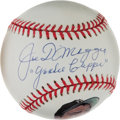 "Autographs:Baseballs, Circa 1995 Joe DiMaggio Single Signed Baseball With ""YankeeClipper"" Inscription...."