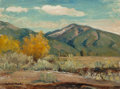 Paintings, ROBERT WILLIAM WOOD (American, 1889-1979). Autumn in Bishop, California. Oil on board. 12 x 16 inches (30.5 x 40.6 cm). ...