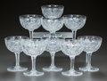 Miscellaneous, A SET OF NINE CUT-GLASS CORDIAL STEMS, circa 1900. 4-1/2 incheshigh (11.4 cm). A Private Texas Collection of American Bri...(Total: 9 Items)