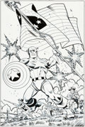 Original Comic Art:Covers, Ron Frenz and Roger Langridge Captain America: Sentinel of Liberty #7 Cover Original Art (Marvel, 1999)....