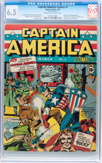 Captain America Comics #1 (Timely, 1941) CGC FN+ 6.5 Off-white to white pages