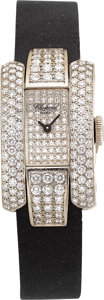 Estate Jewelry:Watches, Chopard Lady's La Strada Diamond, White Gold Watch. ...