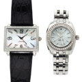 Timepieces:Wristwatch, Zodiac & Tycoon Stainless Steel Wristwatches. ... (Total: 2 Items)