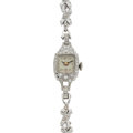 Timepieces:Wristwatch, Lady's Swiss Platinum & Diamond Wristwatch. ...