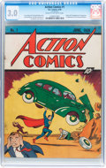 Golden Age (1938-1955):Superhero, Action Comics #1 (DC, 1938) CGC GD/VG 3.0 Cream to off-whitepages....