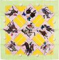 "Luxury Accessories:Accessories, Hermes 90cm Green ""Le Monde du Polo,"" by Chantal de Crissey SilkScarf. Excellent Condition. 36"" Width x 36"" Length..."