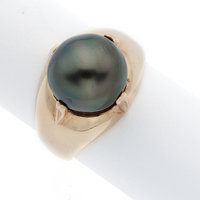 South Sea Cultured Pearl, Gold Ring