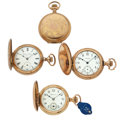 Timepieces:Pocket (post 1900), Three Hunter's Case Pocket Watches & One Gold Filled Case. ... (Total: 4 Items)