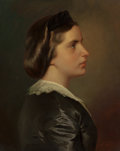 Paintings, FRANZ XAVER WINTERHALTER (German, 1805-1875). Portrait of a Young Woman in Profile, circa 1867. Oil on canvas. 22 x 17-1...