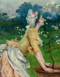 Paintings, FRANCESCO VINEA (Italian, 1845-1902). Spring in Florence. Oil on canvas. 18-1/2 x 14-3/8 inches (47.0 x 36.6 cm). Signed...