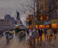Paintings, EDOUARD-LÉON CORTÈS (French, 1882-1969). Place de la Republique. Oil on canvas. 15 x 18 inches (38.1 x 45.7 cm). Signed ...