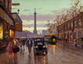 Fine Art - Painting, European:Modern  (1900 1949)  , EDOUARD-LÉON CORTÈS (French, 1882-1969). Rue de Lyon,Bastille. Oil on canvas. 19-3/4 x 25-3/4 inches (50.2 x 65.4cm). ...