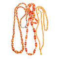 Estate Jewelry:Necklaces, Carnelian, Rock Crystal Quartz, Agate Necklaces. ... (Total: 3 Items)