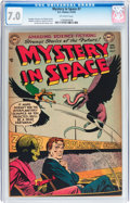 Golden Age (1938-1955):Science Fiction, Mystery in Space #7 (DC, 1952) CGC FN/VF 7.0 Off-white pages....