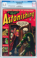 Golden Age (1938-1955):Horror, Astonishing #15 (Atlas, 1952) CGC FN- 5.5 Cream to off-whitepages....