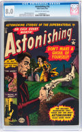 Golden Age (1938-1955):Horror, Astonishing #16 (Atlas, 1952) CGC VF 8.0 Cream to off-whitepages....