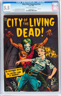 Golden Age (1938-1955):Horror, City of the Living Dead #nn (Avon, 1952) CGC FN- 5.5 Cream tooff-white pages....
