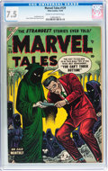 Golden Age (1938-1955):Horror, Marvel Tales #129 (Atlas, 1954) CGC VF- 7.5 Cream to off-whitepages....