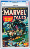 Golden Age (1938-1955):Horror, Marvel Tales #130 (Atlas, 1955) CGC FN/VF 7.0 Cream to off-whitepages....