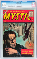 Golden Age (1938-1955):Horror, Mystic #43 (Atlas, 1956) CGC FN+ 6.5 Cream to off-white pages....