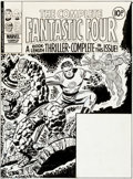 Original Comic Art:Covers, Ron Wilson and Frank Giacoia Complete Fantastic Four #2Cover Original Art (Marvel UK, 1977)....