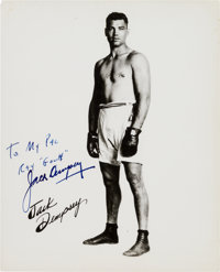 """Jack Dempsey Inscribed Photograph Signed. Measuring 8"""" x 10"""", """"Kid Blackie"""" is featured in this full..."""