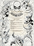 "Original Comic Art:Splash Pages, John Romita Sr. Marvel Treasury Edition #1 ""The SpectacularSpider-Man"" Table of Contents Splash Page 3 Original A..."