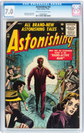 Silver Age (1956-1969):Horror, Astonishing #43 (Atlas, 1955) CGC FN/VF 7.0 Cream to off-whitepages....